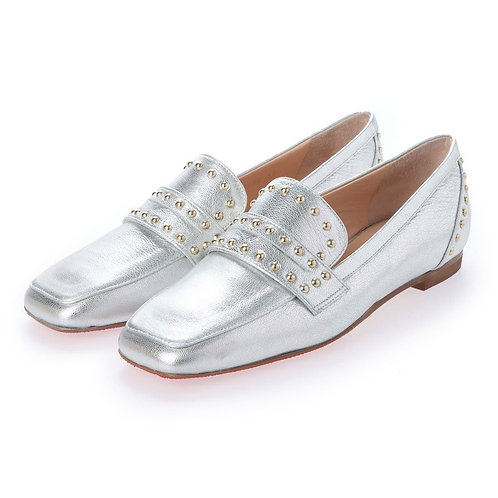 Studs loafer Silver
