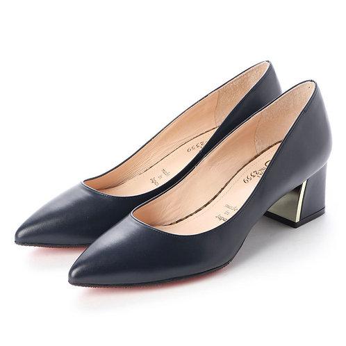 Chunky heel pumps Navy