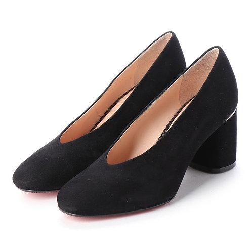 Soft square pumps Black