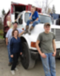 Owners of Ohio Brook Disposal, Shane and Alice Curtis, with three of their four childre.