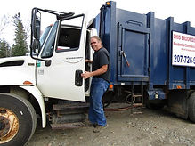 Ohio Brook Disposal trash man ready for residential pickup.