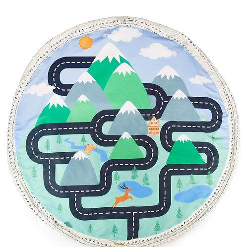 """""""Mountain Playmat & Go"""" montañas estampado niño"""