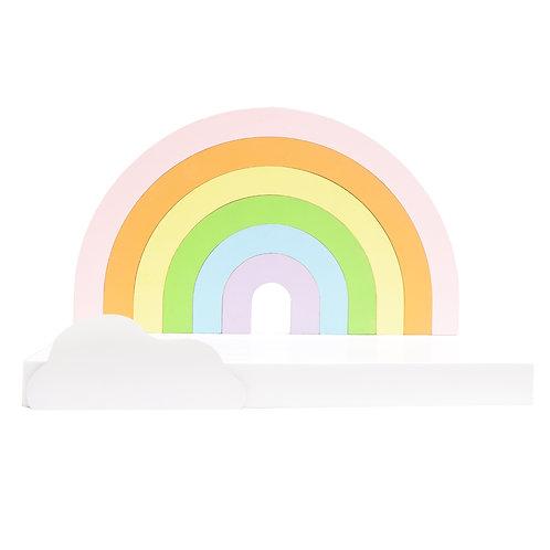 Repisa en forma de arcoiris
