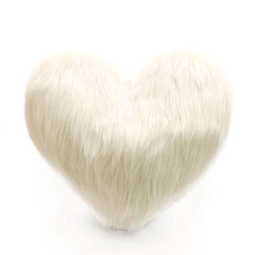 Cojín de corazón peludo