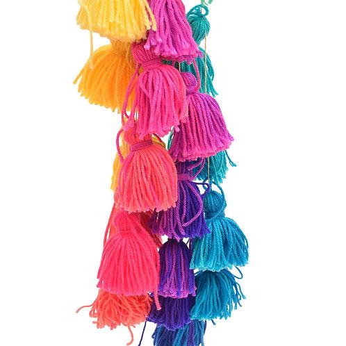 Guirnalda de borlas colores vivos