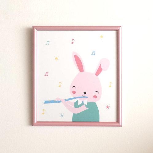 Conejo flautista
