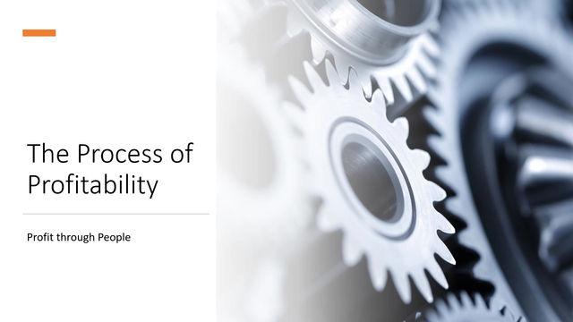 The process and language of profitability