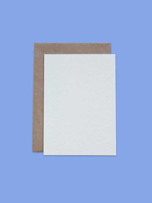 Letterpress Postkarte Dots Weiß