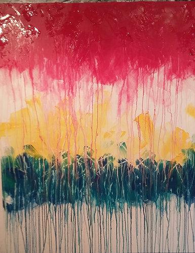 Summer Rain Painting
