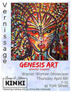 Vernissage - Genesis Art (Geneviève Langlois) on Thursday April 6, 2017 at Kinki's in Ottawa