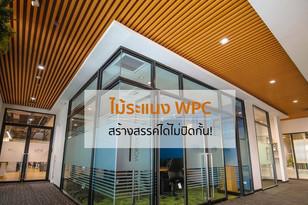 สร้างสรรค์ได้ไม่ปิดกั้น! ไม้ระแนง WPC ตอบทุกความต้องการในงาน Interior