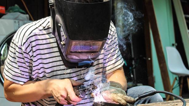 Peter Martin welding