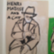 Henri Matisse and a Cat (2014) - acrylc paint on paper