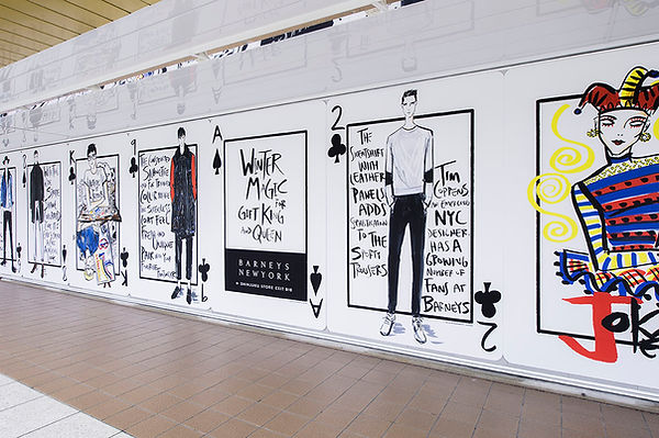 Barneys New York Japan, Tokyo Subway Art
