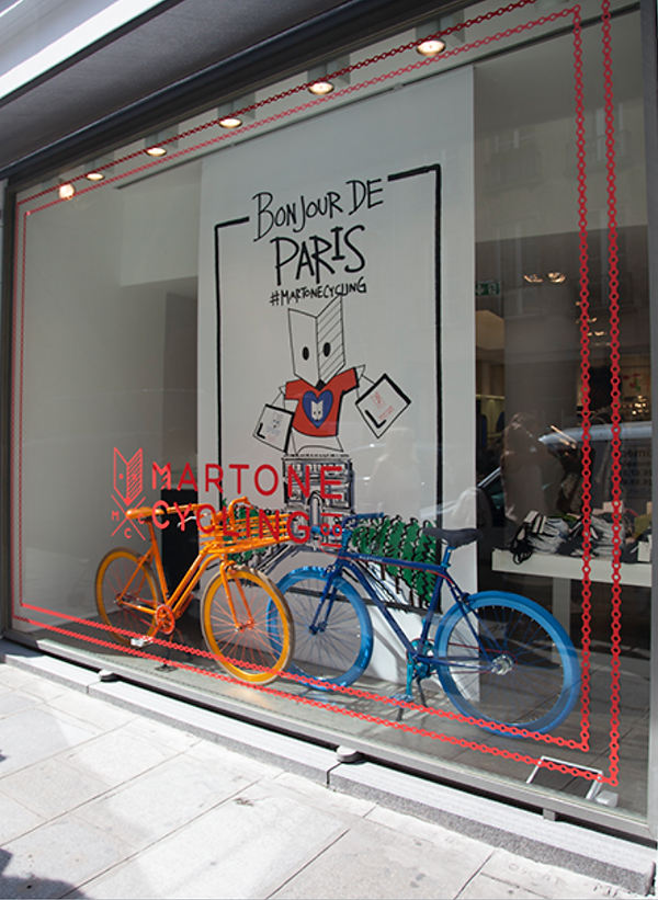 Colette Paris Window Display for Martone Cycling Co.