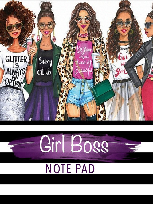 Girl Boss Note Pad