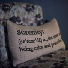 Serenity: the state of being calm & peaceful.