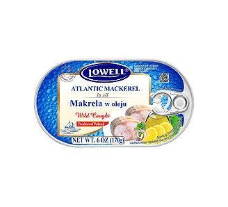 Filety z Makreli w oleju 170g