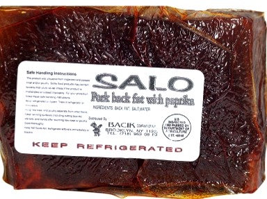 Salted pork back fat ( SALO ) w/ Paprika