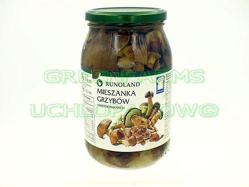 Mixed Mushrooms in vinegar ( mieszanka grzybow marynowanych)
