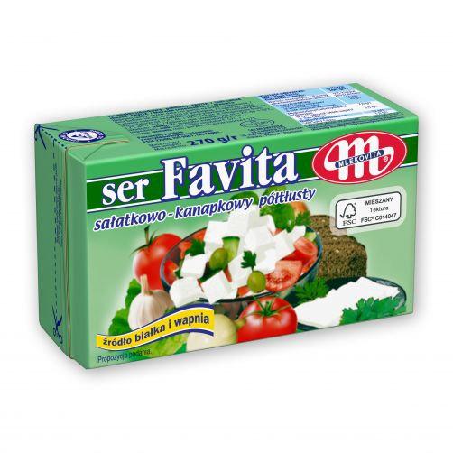 Ser FAVITA Sałatkowo Kanapkowy typu Feta Tłusty