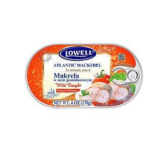 Filety z Makreli w sosie pomidorowym 170g