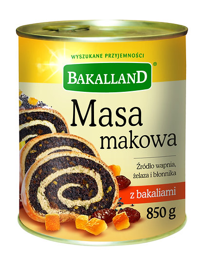 Masa Makowa z Bakaliami do ciast 850g.