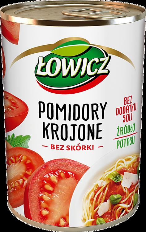 Pomidorowy  Krojone bez skorki (w puszce) bez dodatku soli