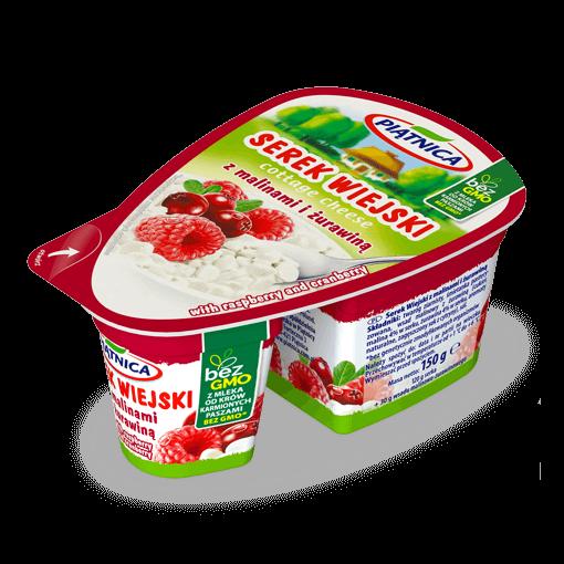 Serek Wiejski z truskawkami