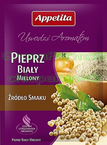White Pepper Grounded Pieprz Bialy Mielony