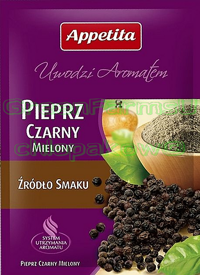 Black pepper Grounded Czarny Pieprz Mielony
