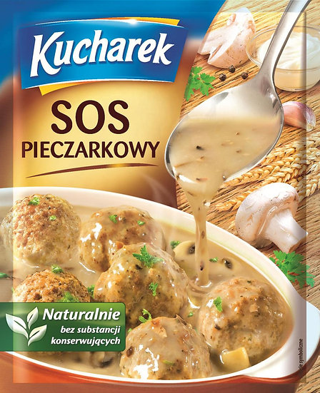 Mushroom Gravy Sauce Sos Pieczarkowy