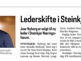 Nyborg ny leder i Steinkjer Næringsforum