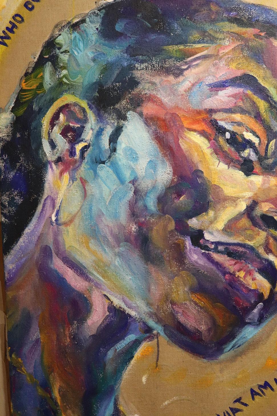 Rebekka Macht Portrait painting