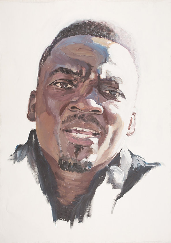 rebekka macht kunst art artist künstlerin portrait painting cyril 2013