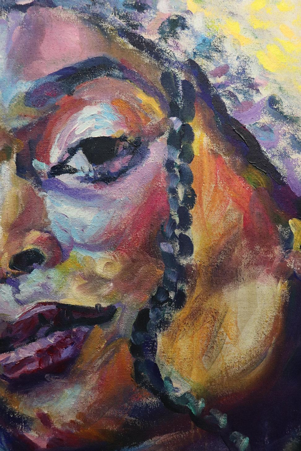 rebekka macht portrait painting acrylic artist