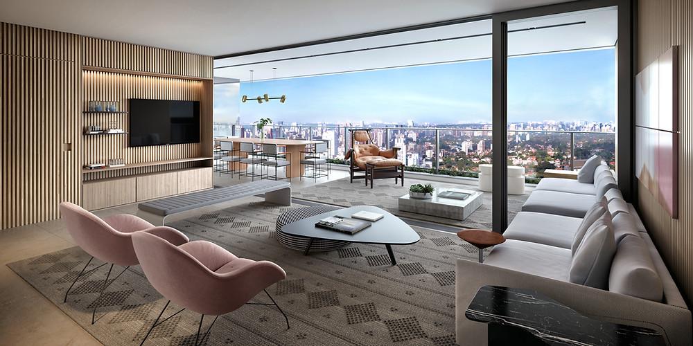 Foto do apartamento de 178m2 no Alameda Jardins.