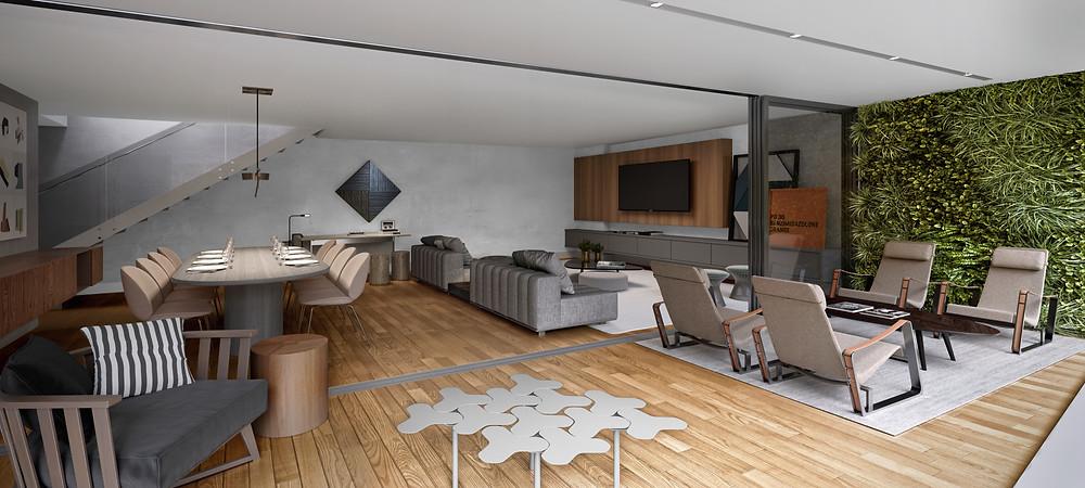 Foto do apartamento duplex de 196m2 no Alameda Jardins.