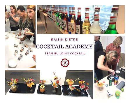 Animation teambuilding par Raisin d'Être à Marseille PACA pour entreprise, création de cocktails en équipe.
