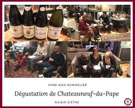 Dégustation de Chateauneuf-du -Pape pour entreprise en région PACA par l'équipe Raisin d'Être.