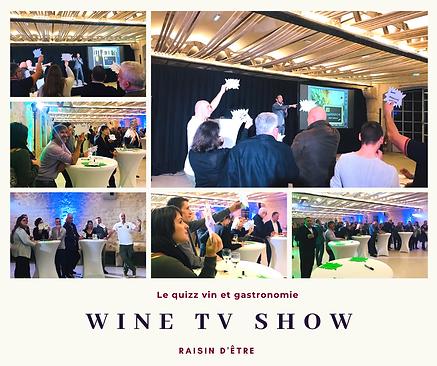 Animation Wine TV Show ou l'univers du vin version jeu TV ! Animation ludique soirée d'entreprise