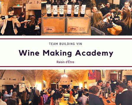Animation Wine Making Academy réalisé par Raisin d'Être. Animation création de en équipe, teambuilding en Hérault - Montpellier.