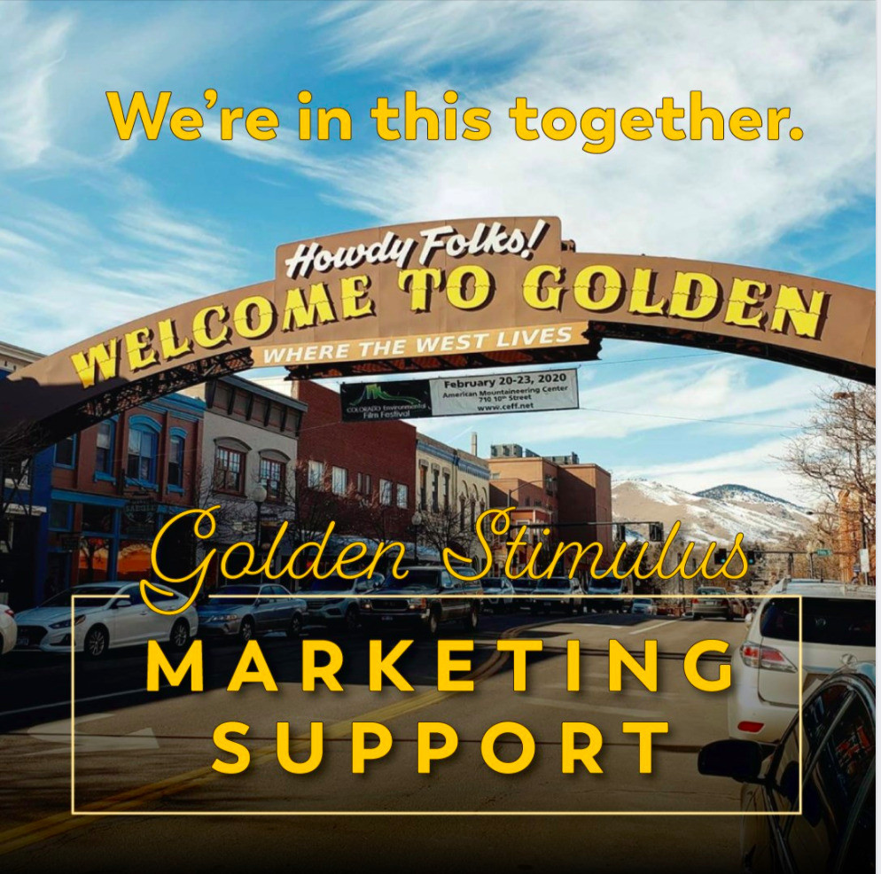 Golden welcome sign