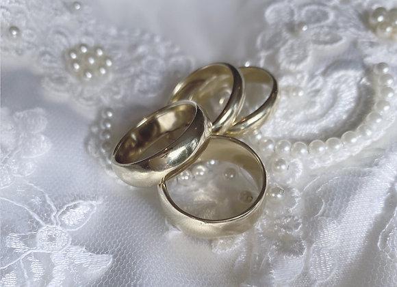 GOLD Soft Curve Band (4 mm x 1.5 mm)