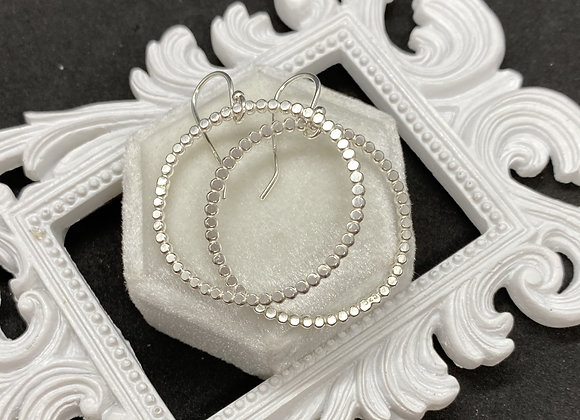 Pearl Wire Hoops
