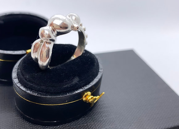"""Silver """"Look at 'em buns"""" ring (MADE TO ORDER)"""