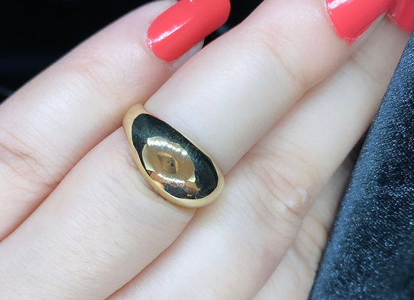 GOLD Plain Petite dome ring (MADE TO ORDER)