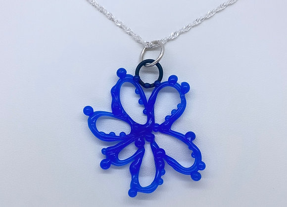 Organic flower necklace (large size- WAX FOR CASTING IN STERLING SILVER)