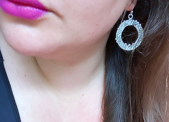 Swirly Round Hoops  (Large, MADE TO ORDER)
