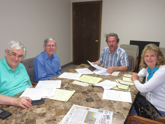 Meet the contingent from the Laconia Rotary Club:  John Nivus, John Perley, Randy Brough and Hazel Zimmer